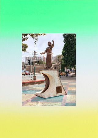 Esther Forero (1919-2011), singer and composer. Statue erected calle 74 con carrera 43 in Barranquilla, Colombia.