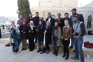 Giving a photography workshop in the light of the World Press Photo exhibition in Amman organized by the Embassy of the Netherlands in Jordan.