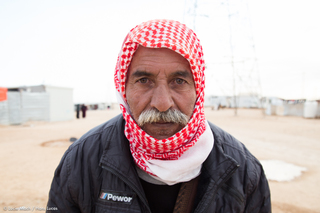 Syrian in Zaatari Refugee camp, Jordan