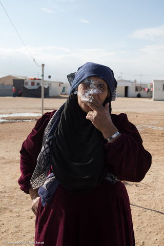 Syrian woman in Zaatari refugee camp